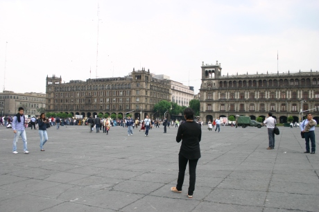 The Zocalo is the largest plaza in Latin America and the second largest in the world after Moscow's Red Square. It can hold up to nearly 100,000 people.